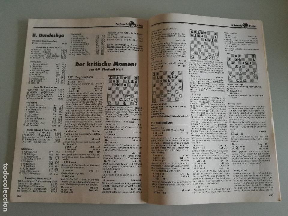 Coleccionismo deportivo: REVISTA AJEDREZ ALEMANA SCHACH-ECHO Nº 6 JUNIO 1990 - Foto 5 - 97068203