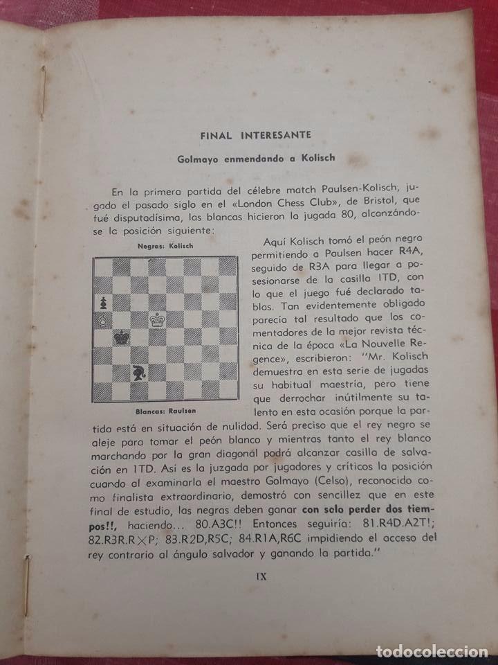 Coleccionismo deportivo: LIBRO UNICO PARA COLECCIONISTAS, FIRMADO Y DEDICADO POR MANUEL GOLMAYO-TEMAS DE AJEDREZ-1947 - Foto 2 - 97835411