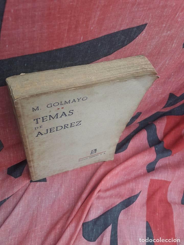 Coleccionismo deportivo: LIBRO UNICO PARA COLECCIONISTAS, FIRMADO Y DEDICADO POR MANUEL GOLMAYO-TEMAS DE AJEDREZ-1947 - Foto 7 - 97835411