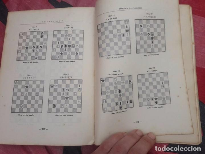 Coleccionismo deportivo: LIBRO UNICO PARA COLECCIONISTAS, FIRMADO Y DEDICADO POR MANUEL GOLMAYO-TEMAS DE AJEDREZ-1947 - Foto 10 - 97835411