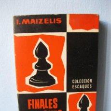 Coleccionismo deportivo: FINALES DE PEONES (I. MAIZELIS) COLECCIÓN ESCAQUES 1. LIBRO AJEDREZ, LLIBRE ESCACS. Lote 98613679
