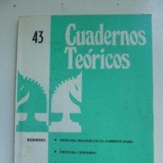 Coleccionismo deportivo: REVISTA JAQUE. CUADERNOS TEÓRICOS. Nº 43. Lote 98845603