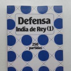 Coleccionismo deportivo: DEFENSA INDIA DE REY (1) - COLECCION ENROQUE - AJEDREZ - 250 PARTIDAS - 1990, EDICIONES ESEUVE. Lote 99759871