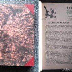 Coleccionismo deportivo: ?? REVISTA AJEDREZ (SOPENA) AÑO 1966 COMPLETO CHESS SCHACH. Lote 102098203