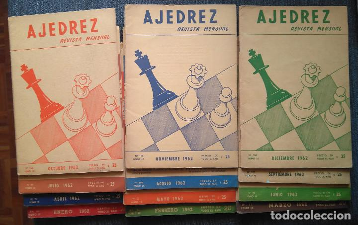 REVISTA AJEDREZ (SOPENA) AÑO 1962 COMPLETO CHESS SCHACH (Coleccionismo Deportivo - Libros de Ajedrez)