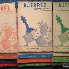 Coleccionismo deportivo: REVISTA AJEDREZ (SOPENA) AÑO 1962 COMPLETO CHESS SCHACH. Lote 102098639