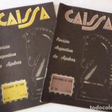Coleccionismo deportivo: LOTE DE 2 REVISTAS DE AJEDREZ ARRGENTINAS. CAISSA. NUMS: 110 Y 111. 1948. . Lote 103399595
