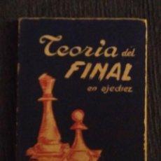 Coleccionismo deportivo: AJEDREZ. GANZO. TEORIA DEL FINAL. Lote 105187311
