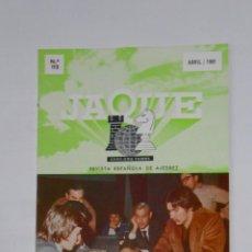 Coleccionismo deportivo: LIBRO REVISTA ESPAÑOLA DE AJEDREZ. JAQUE. Nº 112. ABRIL 1981. KARPOV Y CHRISTIANSEN. TDKR12. Lote 105931623
