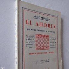 Coleccionismo deportivo: EL AJEDREZ. DEL MÉTODO PSICOLÓGICO Y DE SU EVOLUCIÓN. ALEJO MARCOFF. ED. BAUZÁ, 1933. 169 PP.. Lote 107877571
