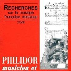 Coleccionismo deportivo: AJEDREZ PHILIDOR, MUSICIEN ET JOUEUR D'ECHECS (RECHERCHES SUR LA MUSIQUE FRANCAISE CLASSIQUE),MUSICA. Lote 109173207