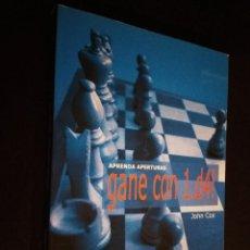 Coleccionismo deportivo: AJEDREZ. APRENDA APERTURAS. GANE CON 1.D4! - JOHN COX. Lote 194640208