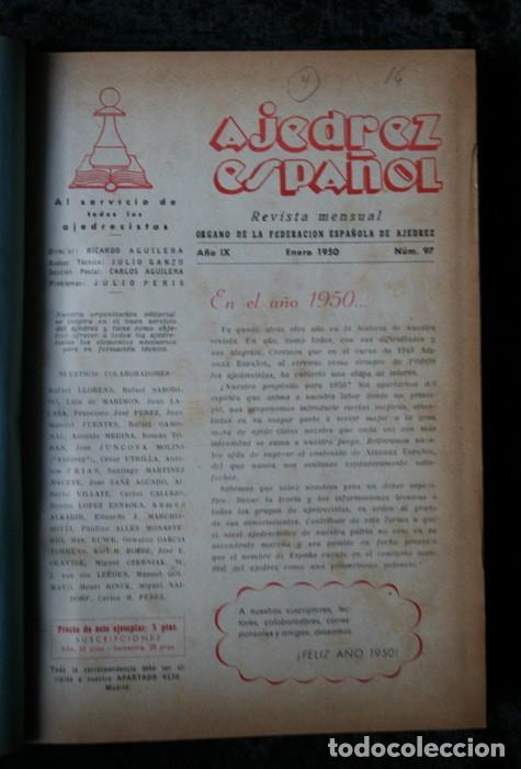 Coleccionismo deportivo: AJEDREZ ESPAÑOL - 1950 - 1951 - 24 números - OPORTUNIDAD UNICA - RARO - - Foto 4 - 111331575