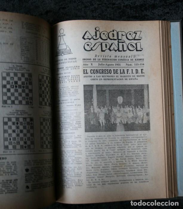 Coleccionismo deportivo: AJEDREZ ESPAÑOL - 1950 - 1951 - 24 números - OPORTUNIDAD UNICA - RARO - - Foto 7 - 111331575