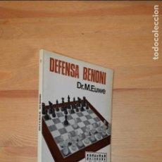Coleccionismo deportivo: AJEDREZ. DEFENSA BENONI. EUWE. 1974, EDICIONES LIMITADAS CATALAN AZT3. Lote 111737667