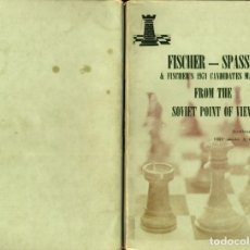 Coleccionismo deportivo: AJEDREZ : FISCHER - SPASSKY & 1971 CANDIDATES FROM THE SOVIET POINT OF VIEW KARKLINS CHESS (RARO). Lote 111982399