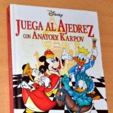 Coleccionismo deportivo: LIBRO INFANTIL: JUGAR AL AJEDREZ CON ANATOLY KARPOV - DE WALT DISNEY - EDITORIAL EVEREST - AÑO 2000. Lote 112258667