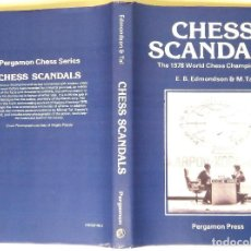Coleccionismo deportivo: AJEDREZ :CHESS SCANDALS THE 1978 WORLD CHESS CHAMPIONSHIP(BAGUIO KARPOV KORCHNOI)EDMONDSON& TAL RARO. Lote 112511959