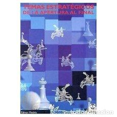 Coleccionismo deportivo: AJEDREZ. TEMAS ESTRATÉGICOS DE LA APERTURA AL FINAL - EDMAR MEDNIS DESCATALOGADO!!!. Lote 114742491