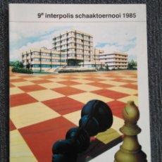 Coleccionismo deportivo: AJEDREZ LIBRO TORNEO 9 INTERPOLIS 1985 KORCHNOI CHESS. Lote 115553023