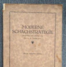 Coleccionismo deportivo: AJEDREZ MODERNE SCHACH STRATEGIE. MIT DR. BERNSTEINS BILDNIS. TARTAKOWER CHESS (RARO). Lote 115559079
