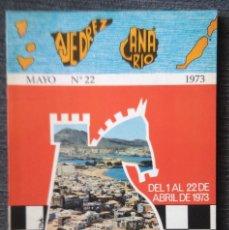 Coleccionismo deportivo: AJEDREZ CANARIO 22 1973 2 TORNEO INTERNACIONAL LAS PALMAS DE GRAN CANARIA CHESS PETROSIAN. Lote 115566599