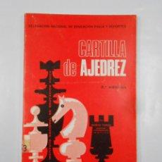 Coleccionismo deportivo: CARTILLA DE AJEDREZ. - TORAN, ROMÁN. 2ª EDICIÓN. TDK337. Lote 116308323