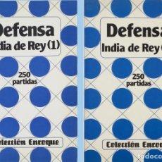 Coleccionismo deportivo: DEFENSA INDIA DE REY, (1) Y (2). Lote 117570307