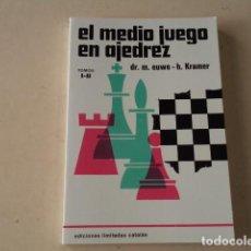 Coleccionismo deportivo: EL MEDIO JUEGO EN AJEDREZ - TOMOS I-II - DR MAX EUWE Y H. KRAMER. Lote 269261553