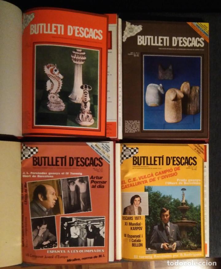 AJEDREZ BUTLLETI D'ESCACS 4 PRIMEROS AÑOS 1976-1979 ED. LUJO CHESS (Coleccionismo Deportivo - Libros de Ajedrez)