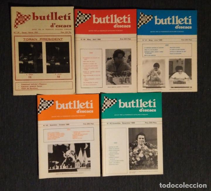 ?? AJEDREZ BUTLLETI D' ESCACS 1985 N. 39-43 AÑO COMPLETO CHESS (Coleccionismo Deportivo - Libros de Ajedrez)