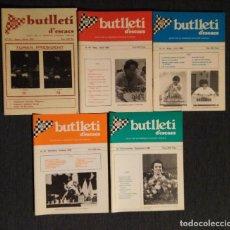 Coleccionismo deportivo: ?? AJEDREZ BUTLLETI D' ESCACS 1985 N. 39-43 AÑO COMPLETO CHESS. Lote 120257039