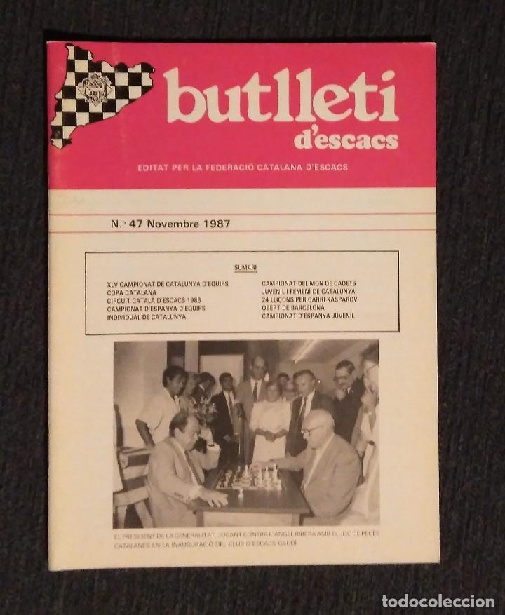 ♚♛ AJEDREZ BUTLLETI D' ESCACS 1987 47 AÑO COMPLETO CHESS JORDI PUJOL (Coleccionismo Deportivo - Libros de Ajedrez)