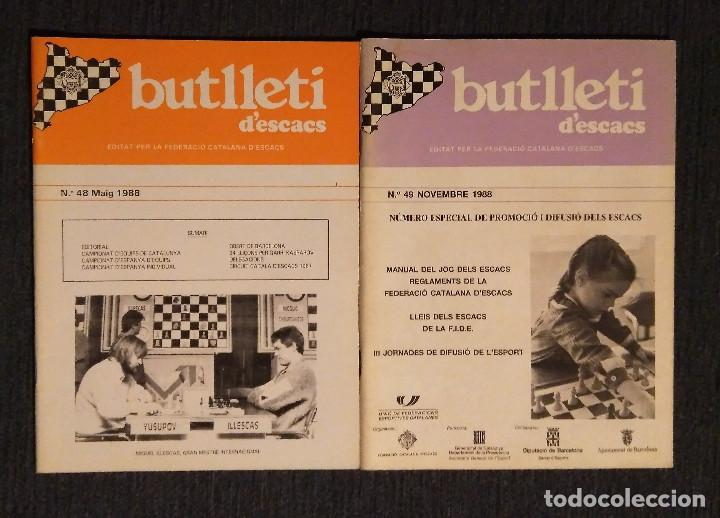 ♔♕ AJEDREZ BUTLLETI D' ESCACS 1988 48-49 AÑO COMPLETO CHESS (Coleccionismo Deportivo - Libros de Ajedrez)