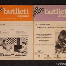 Coleccionismo deportivo: ♔♕ AJEDREZ BUTLLETI D' ESCACS 1988 48-49 AÑO COMPLETO CHESS. Lote 120258091