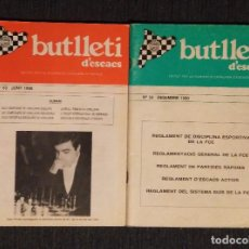 Coleccionismo deportivo: AJEDREZ BUTLLETI D' ESCACS 1990 53-54 AÑO COMPLETO CHESS. Lote 120258323