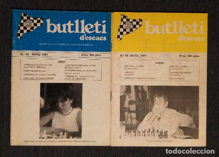 ♔♕ AJEDREZ BUTLLETI D' ESCACS 1991 55-56 AÑO COMPLETO CHESS (Coleccionismo Deportivo - Libros de Ajedrez)