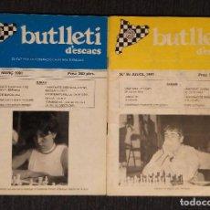 Coleccionismo deportivo: ♔♕ AJEDREZ BUTLLETI D' ESCACS 1991 55-56 AÑO COMPLETO CHESS. Lote 120258639