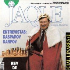 Coleccionismo deportivo: ?? AJEDREZ JAQUE 374 LINARES KARPOV KASPAROV 1994 . Lote 120455659