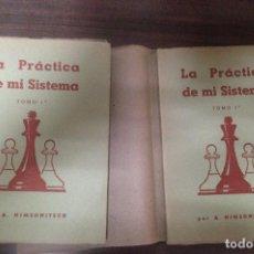 Coleccionismo deportivo: LOTE 2 TOMOS LIBROS AJEDREZ LA PRACTICA DE MI SISTEMA POR A. NIMZOWITSCH. Lote 120607703
