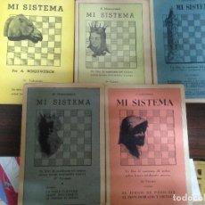 Coleccionismo deportivo: LOTE 5 TOMOS LIBROS AJEDREZ MI SISTEMA POR A. NIMZOWITSCH. Lote 120607851