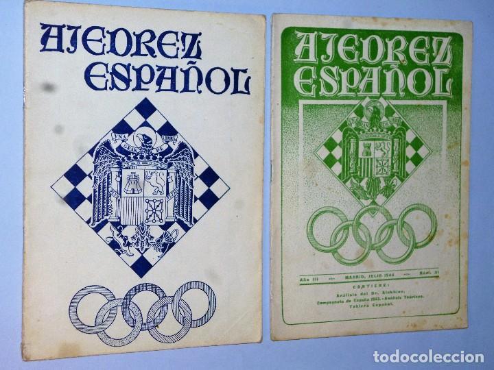 AJEDREZ ESPAÑOL. REVISTA MENSUAL. (2 REVISTAS9 (Coleccionismo Deportivo - Libros de Ajedrez)