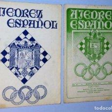 Coleccionismo deportivo: AJEDREZ ESPAÑOL. REVISTA MENSUAL. (2 REVISTAS9. Lote 121485783