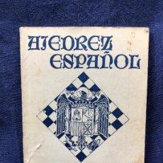 Coleccionismo deportivo: AJEDREZ ESPAÑOL 5-6 MAYO-JUN 1942 ALEKHINE ECHECS SCHACH. Lote 122525839