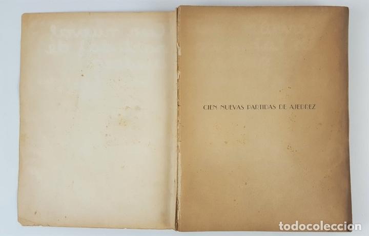 Coleccionismo deportivo: CIEN NUEVAS PARTIDAS DE AJEDREZ. DR RAMÓN REY ARDID. ZARAGOZA. 1940. - Foto 2 - 123183643