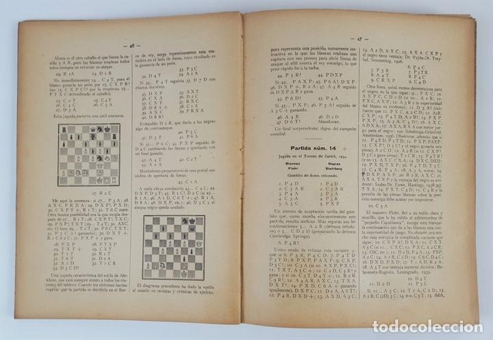 Coleccionismo deportivo: CIEN NUEVAS PARTIDAS DE AJEDREZ. DR RAMÓN REY ARDID. ZARAGOZA. 1940. - Foto 4 - 123183643