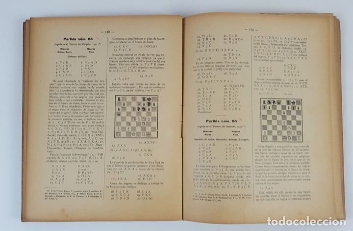 Coleccionismo deportivo: CIEN NUEVAS PARTIDAS DE AJEDREZ. DR RAMÓN REY ARDID. ZARAGOZA. 1940. - Foto 6 - 123183643