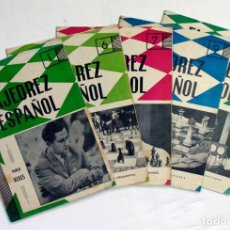 Coleccionismo deportivo: EL AJEDREZ ESPAÑOL. 1961. LOTE DE 5 EJEMPLARES. Lote 125305555