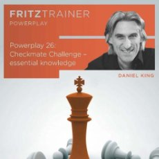 Coleccionismo deportivo: AJEDREZ. CHESS. POWER PLAY 26. CHECKMATE CHALLENGE. ESSENTIAL KNOWLEDGE - DANIEL KING DVD-ROM. Lote 126683215