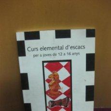 Collezionismo sportivo: CURS ELEMENTAL DESCACS PER A JOVES DE 12 A 16 ANYS. FRANCESC MUÑOZ MEDINA. 2011.. Lote 127491051